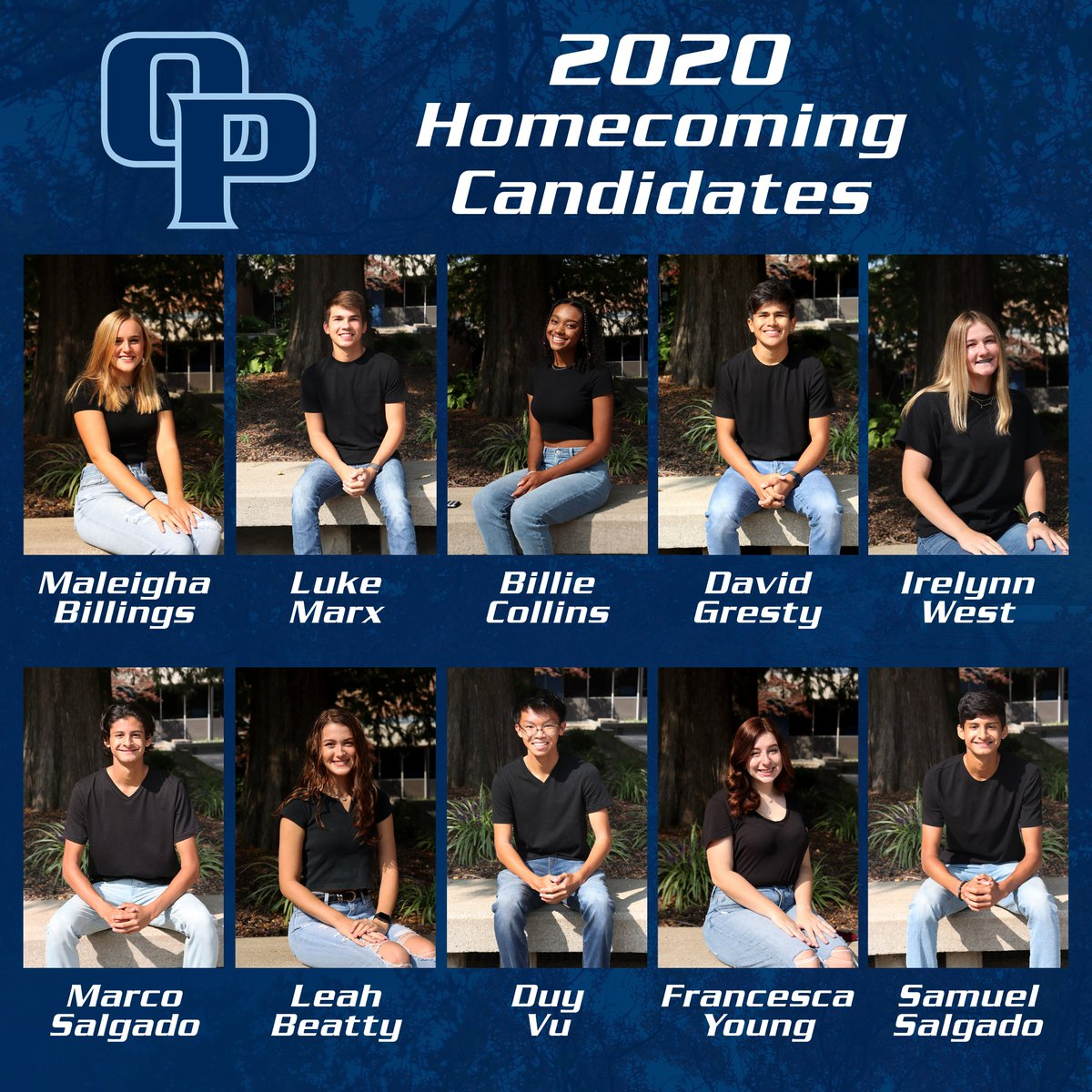 Oak Park High School will celebrate Homecoming today! Congratulations to all ten candidates representing their fellow Northmen. Tune in to the live stream of tonight's game at  to see the 2020 Homecoming King & Queen crowned at halftime! #ForTheFamily