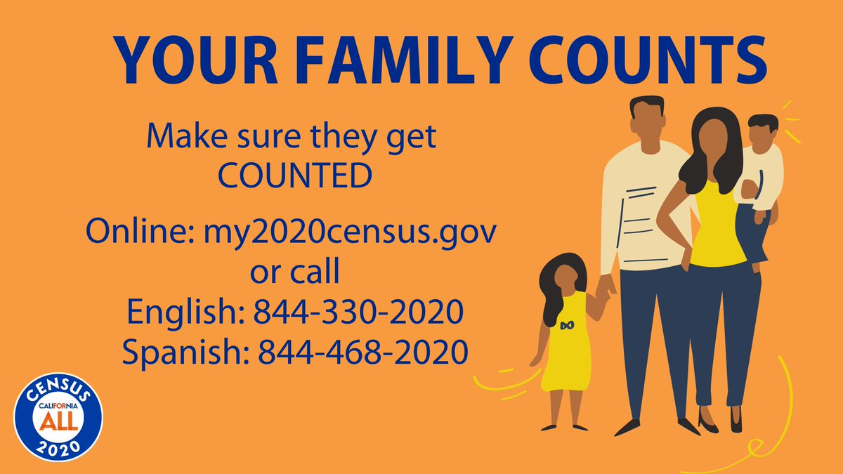 Make sure your family is counted in the #2020Census. Investing a few minutes in filling out survey helps determine future of programs for our kids, their education and our health care. Your voice matters! #EveryoneCounts #BeCounted