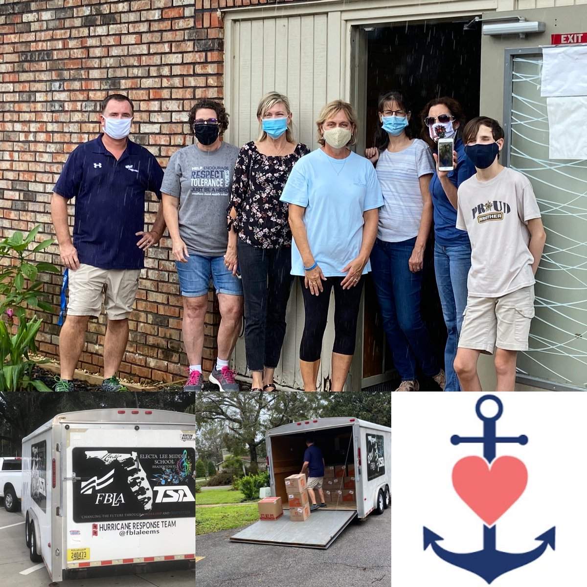 Lee Middle School's FBLA Donation Drive for survivors of Hurricane Sally was a success!   A trailer filled with essential items was delivered and distributed in Pensacola on Thursday.