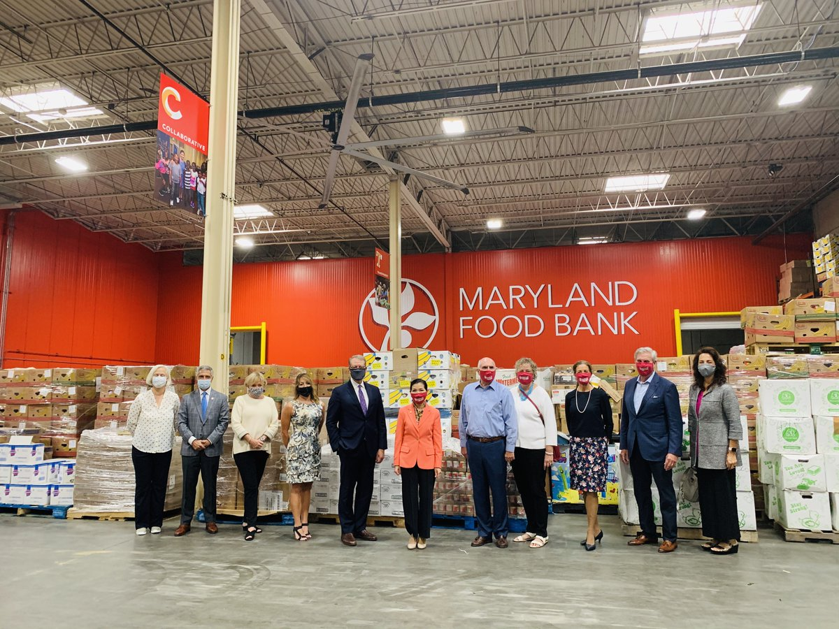 Yesterday, the First Lady was thrilled to join the @MarylandFoodBank and @MarylandGOCI for the delivery of 80,000 pounds of food donated by The Church of Jesus Christ of Latter-Day Saints as part of Maryland's Day to Serve Initiative. #MDDTS2020