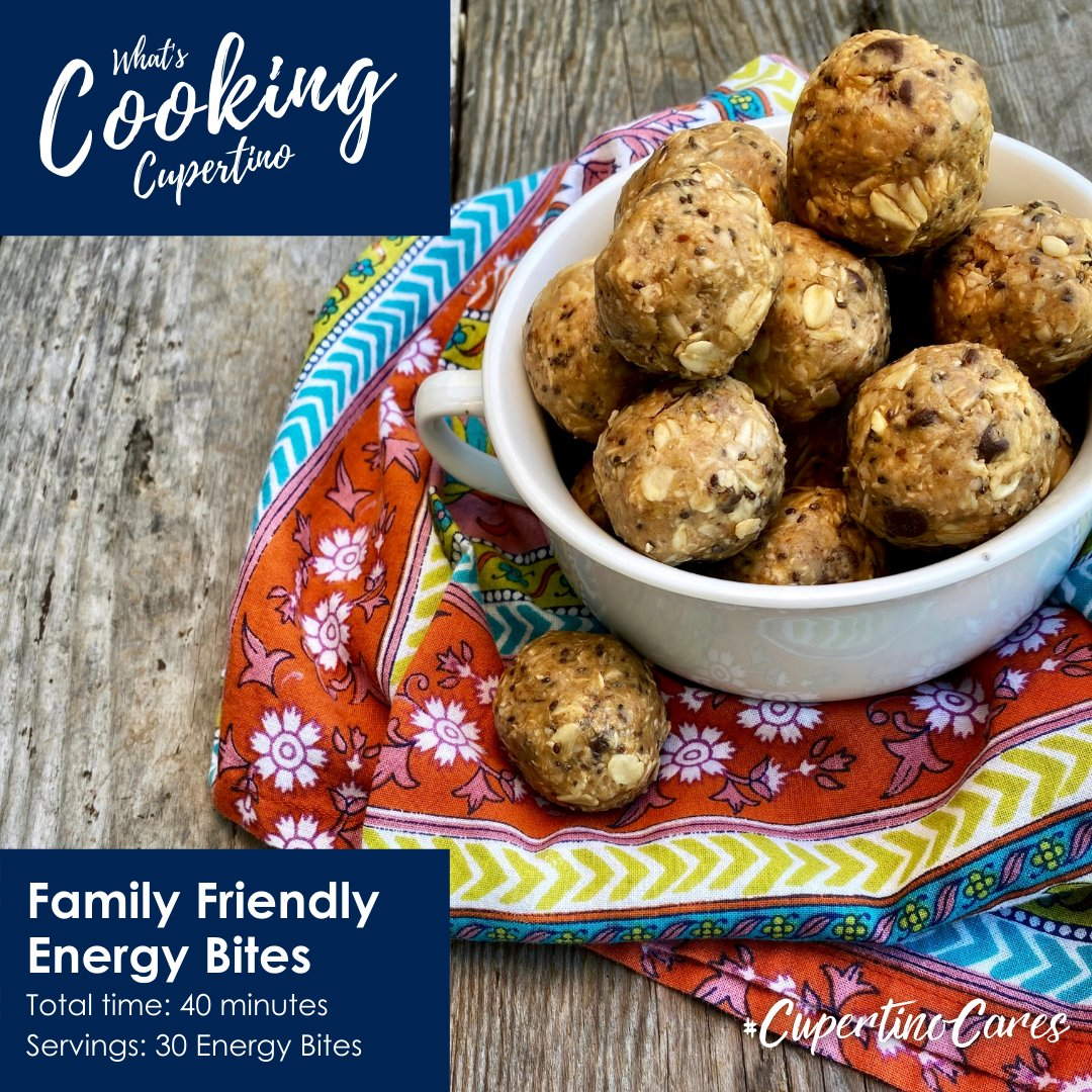 Do you need a quick snack while working from home? What about a healthy treat to get the kids through the day? These no-bake energy bites are super easy to make, full of feel-good ingredients, and irresistibly delicious! Did we mention they're kid-approved. #CupertinoCares