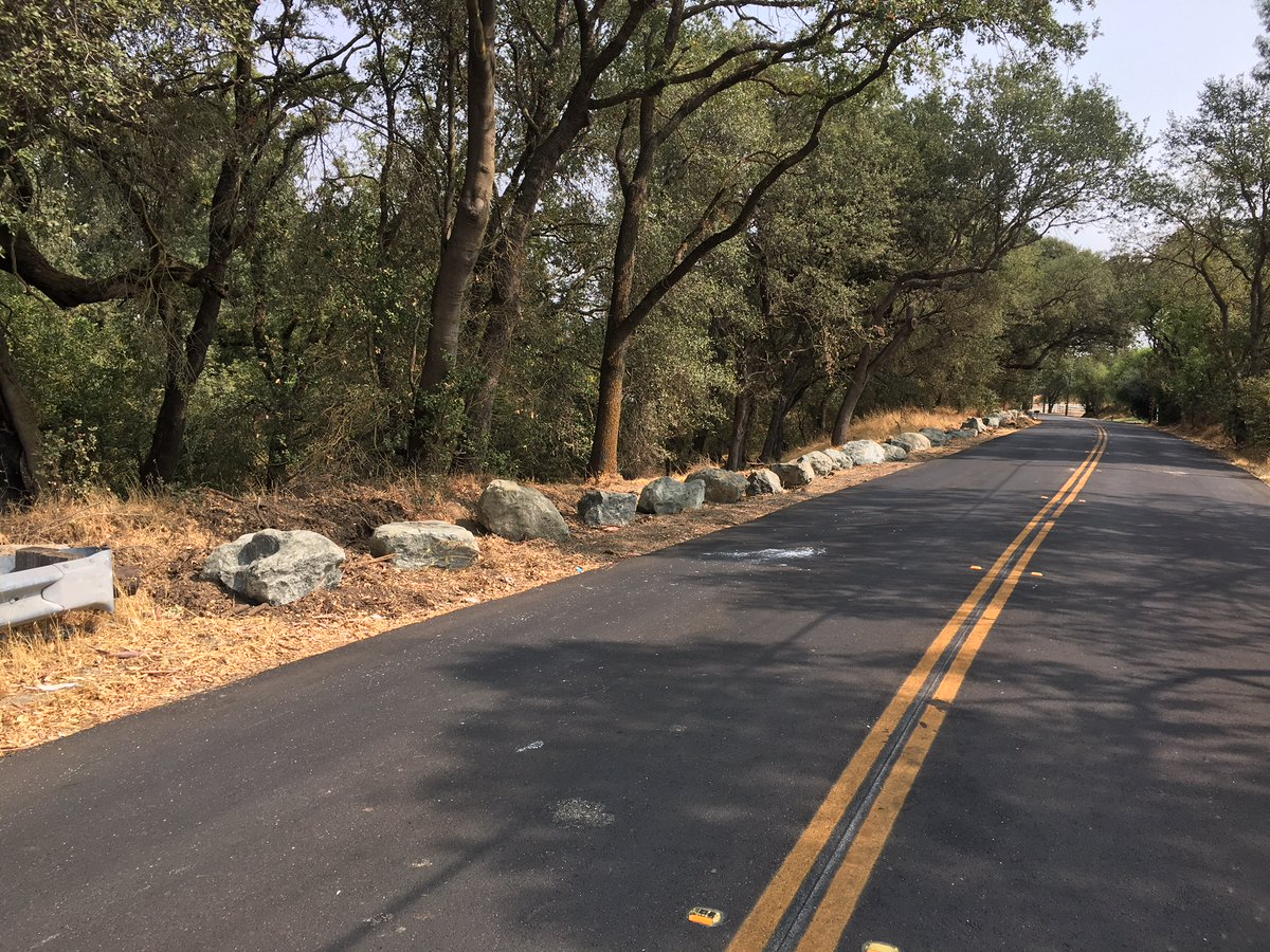 To help curb illegal dumping in the Dry Creek Parkway area, our maintenance team recently placed 64 one-ton boulders around 18th and Q streets! Check out these great pics and let us know what you think!