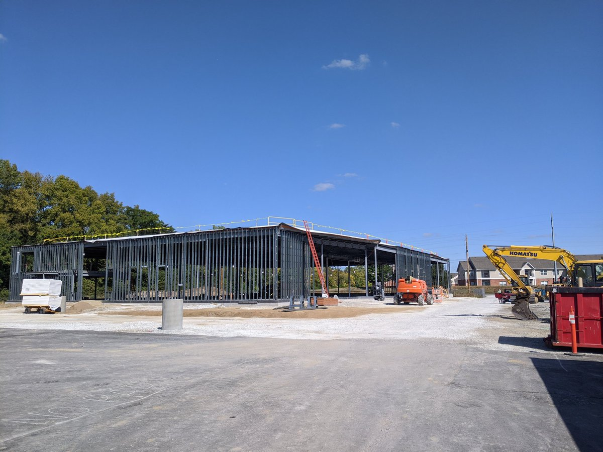 Take a look at the progress of our West Perry Branch! Celebrating the progress since covid-19 thwarted our groundbreaking in April. Looking forward to