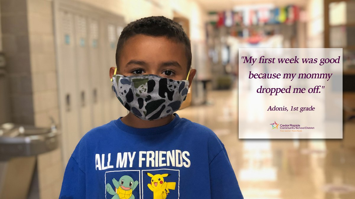 The first week of school has officially come to a close! See what a few students at @KLAMagnet had to say about their first week back to school in this unique year. #WeAreCRCSD