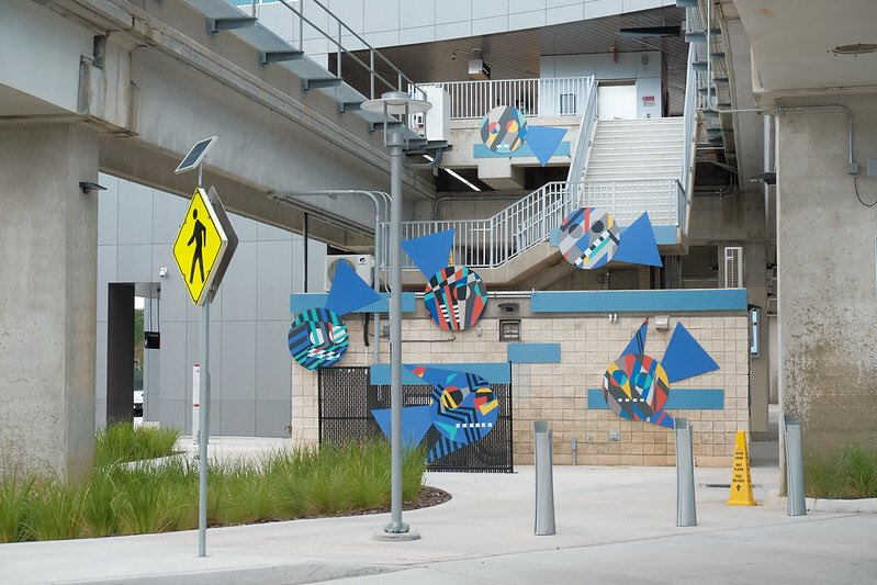 Inside the new @JTAFLA Regional Transportation Center are custom murals that depict the history of transportation in Jacksonville, highlighting the efforts of African Americans. The artwork, supported @MoreArtCulture, also features a rotating display of more than 60 local artists