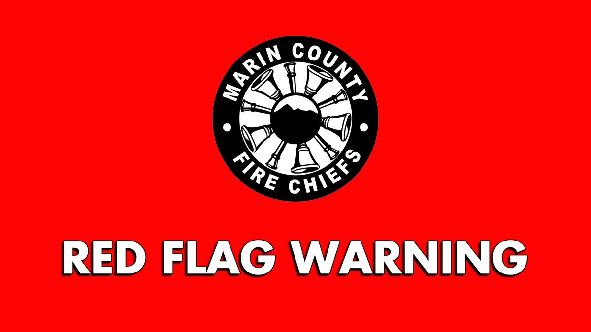#MarinCounty is among the Bay Area counties under a #RedFlagWarning because of critical #Wildfire conditions from 9/26-9/28.   #WestMarin #FirePrevention #Wildfires2020 #DisasterPreparedness #ReadyMarin @READYmarin @firesafemarin