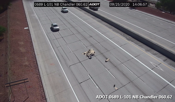 L-101 Price NB: Debris is in the center lanes at Chandler. #phxtraffic