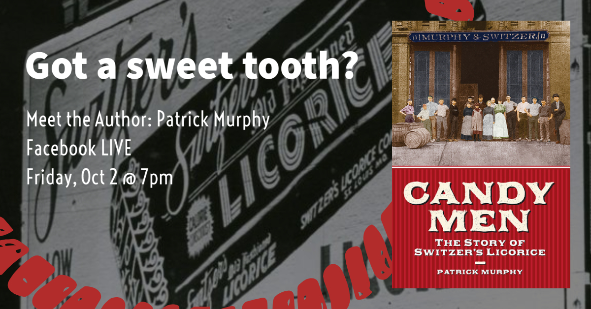 Got a sweet tooth? Get the inside scoop about a local favorite! Discover #Candymen: The History of #SwitzersLicorice when author Patrick Murphy joins the library online to discuss candy history in St. Louis. To participate, visit  on Friday, 10/2 at 7pm.