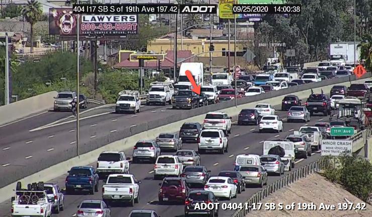 I-17 NB: An air conditioner is on the left shoulder at 7th Avenue. We are no experts, but we will guess it's not meant to be there. #phxtraffic