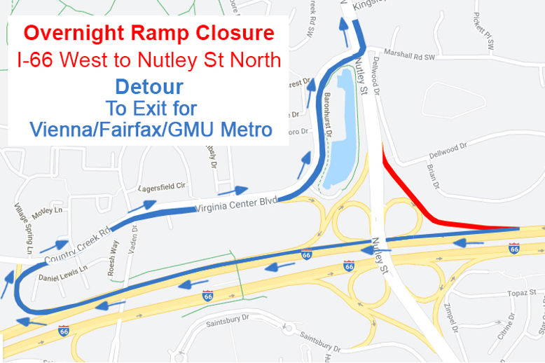 Multiple Overnight Ramp Closures for the Transform 66 Outside the Beltway Project This Weekend and Next Week. More: