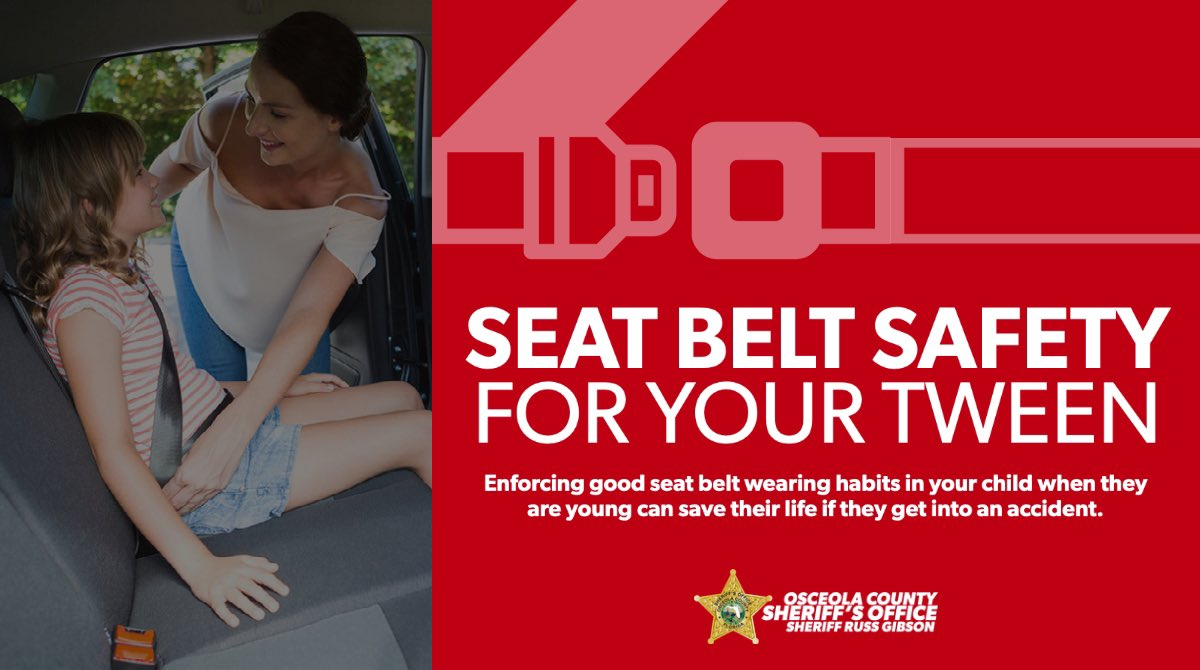 In 2018, 49% of children ages 10-15 involved in a car crash died as a result of being unrestrained. Creating and enforcing good seat belt wearing habits in your tweens can save their life. Read more about seat belt safety for your tween at