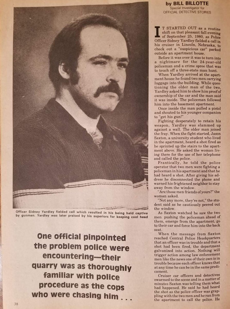 40 yrs ago today an LPD officer was abducted and held hostage after responding to a 'suspicious vehicle' call.   Due to his actions & demeanor, he not only survived but went on to serve 30 more yrs @ LPD.  Thank you for your service and sacrifice. #LNK #LPD