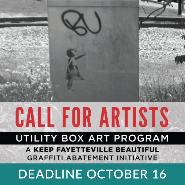 We have four utility boxes that need some art love. And this year, we're able to offer a $150 stipend for the selected artists. Deadline to apply is October 16 at 5pm. Check it out: