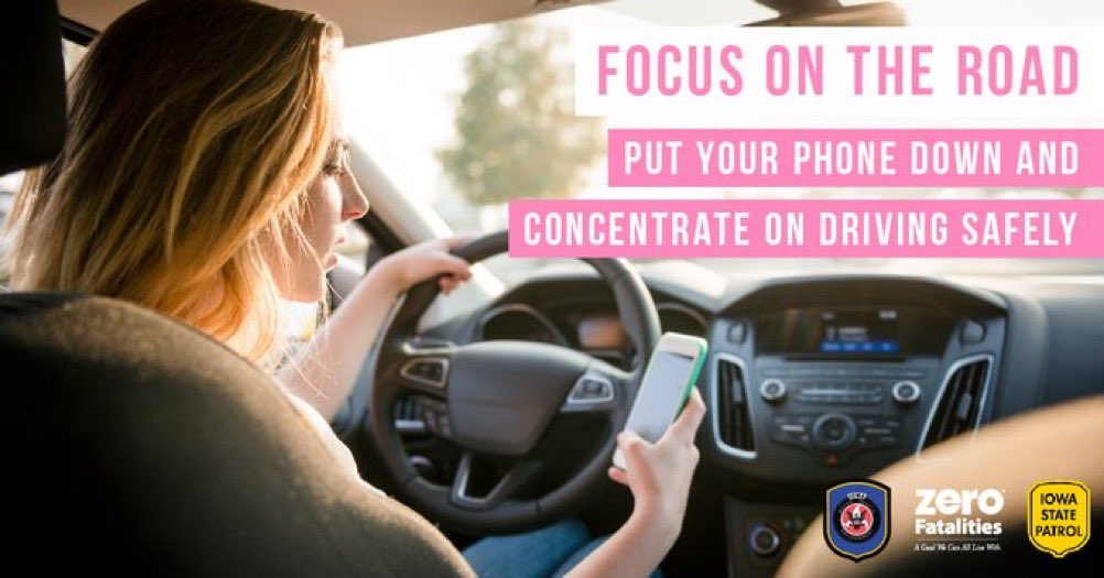 Using technology while you're driving requires a combination of visual, manual, and cognitive attention from a driver. When you're engaged with your device, you're not watching the road.