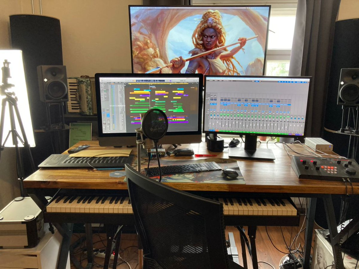Doing some video shoot preparation for @WagaduChronicle in the studio today! :) #gamemusic #Afrofantasy #MMORPG