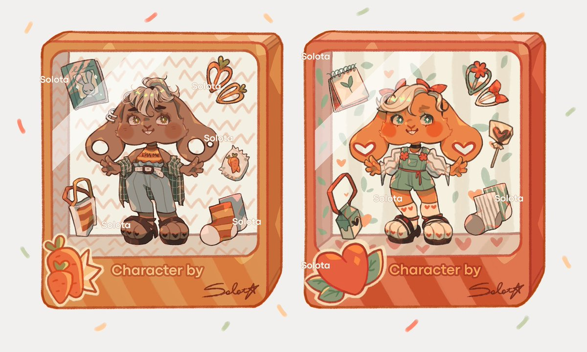 🥕ADOPTABLE AUCTION🥕  SB $20 MI $2 AB $300 usd| characters are sold separately  🧡Payment on paypal, qiwi, сбер Auction ends 48 hours after the last bid  🧡After payment you will receive PNG without watermarks and PSD with layers  🧡Rules: inform about the new owner  Please RT☀️