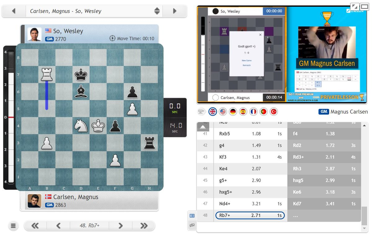 "test Twitter Media - Congratulations to Magnus Carlsen on winning the #c24Banter Series 5.5:3.5! https://t.co/fklxsn8nFo  ""What a battle!"" (Magnus)  #c24live https://t.co/v6VoxmZRdC"