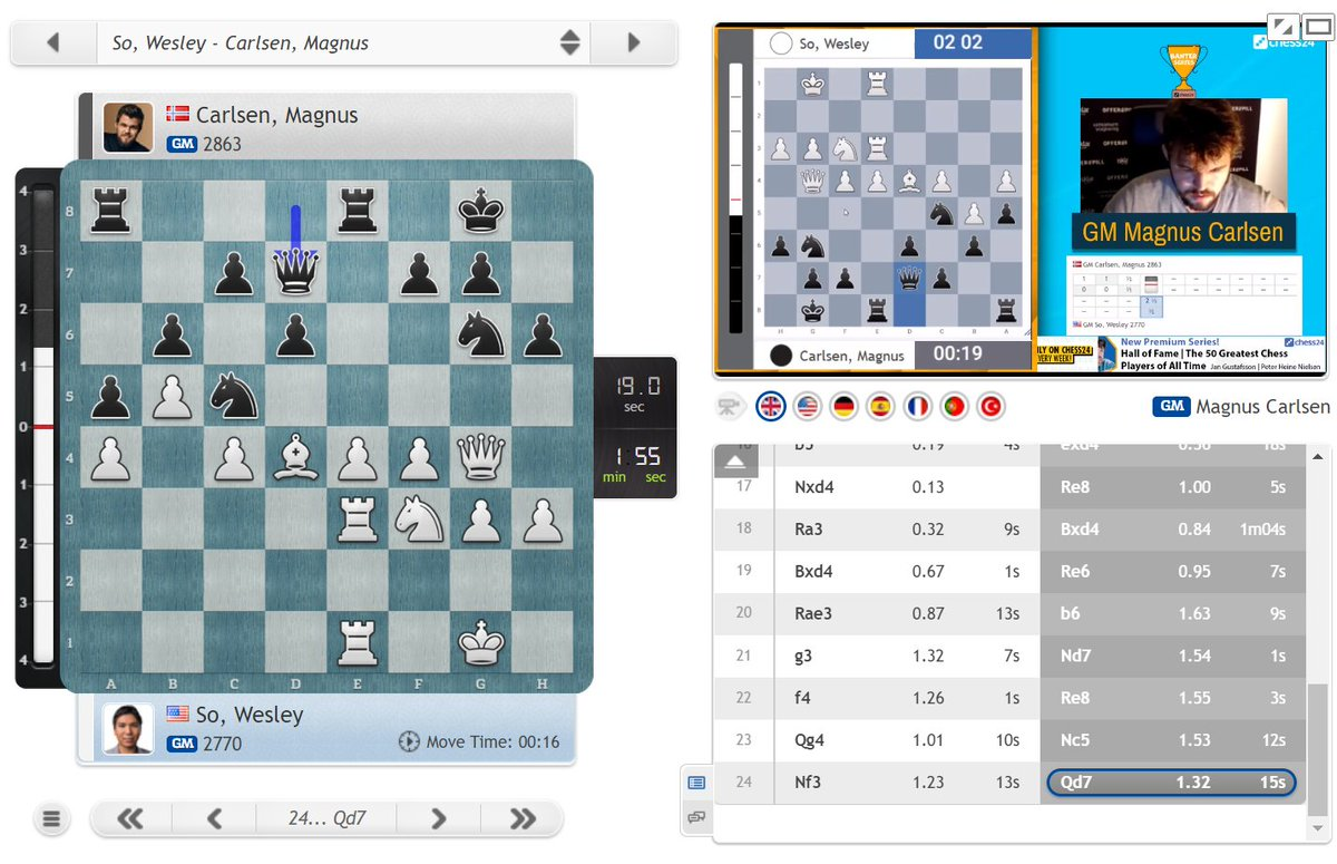 "test Twitter Media - Magnus on the ropes in Game 4: ""I'll go Qd7 and beg for mercy!"" https://t.co/gGTro4F2T8  #c24live #c24Banter https://t.co/T8itH5cbhe"