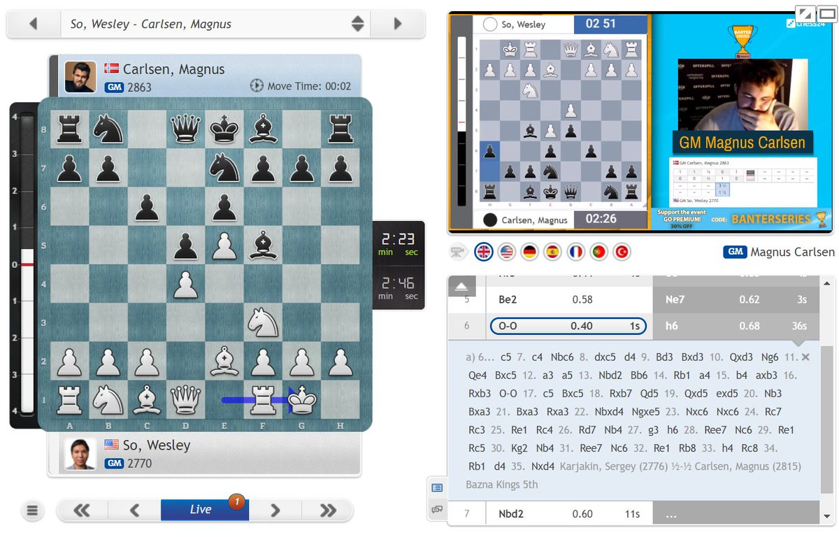 "test Twitter Media - Magnus casually recalls facing this line ""10 years ago in Romania"" against Karjakin, but decides to go for something different: https://t.co/i9woAYH9UE  #c24live #c24Banter https://t.co/CmPkSam0hq"