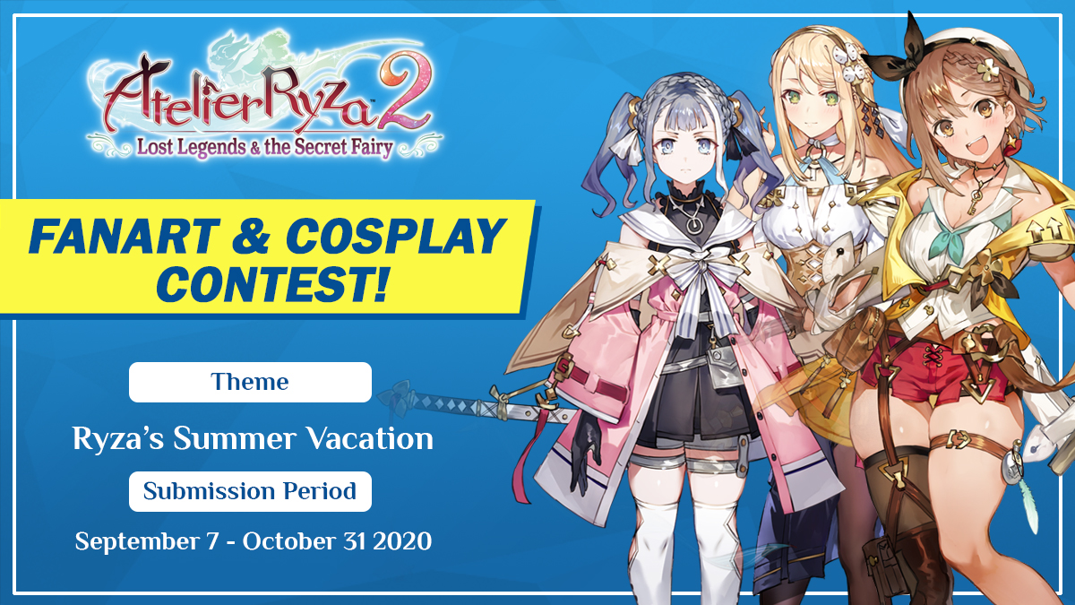 #AtelierRyza 2nd fanart and cosplay contest is taking entries until October 31st! We hope everyone that can participate :)  Characters Models and sketches are available for reference!  More details:   #AtelierRyza2 #Ryza2Contest #KTfamily