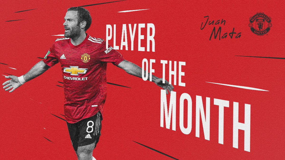 ✨ @JuanMata8 has been voted as our Player of the Month for September! 👏  #MUFC