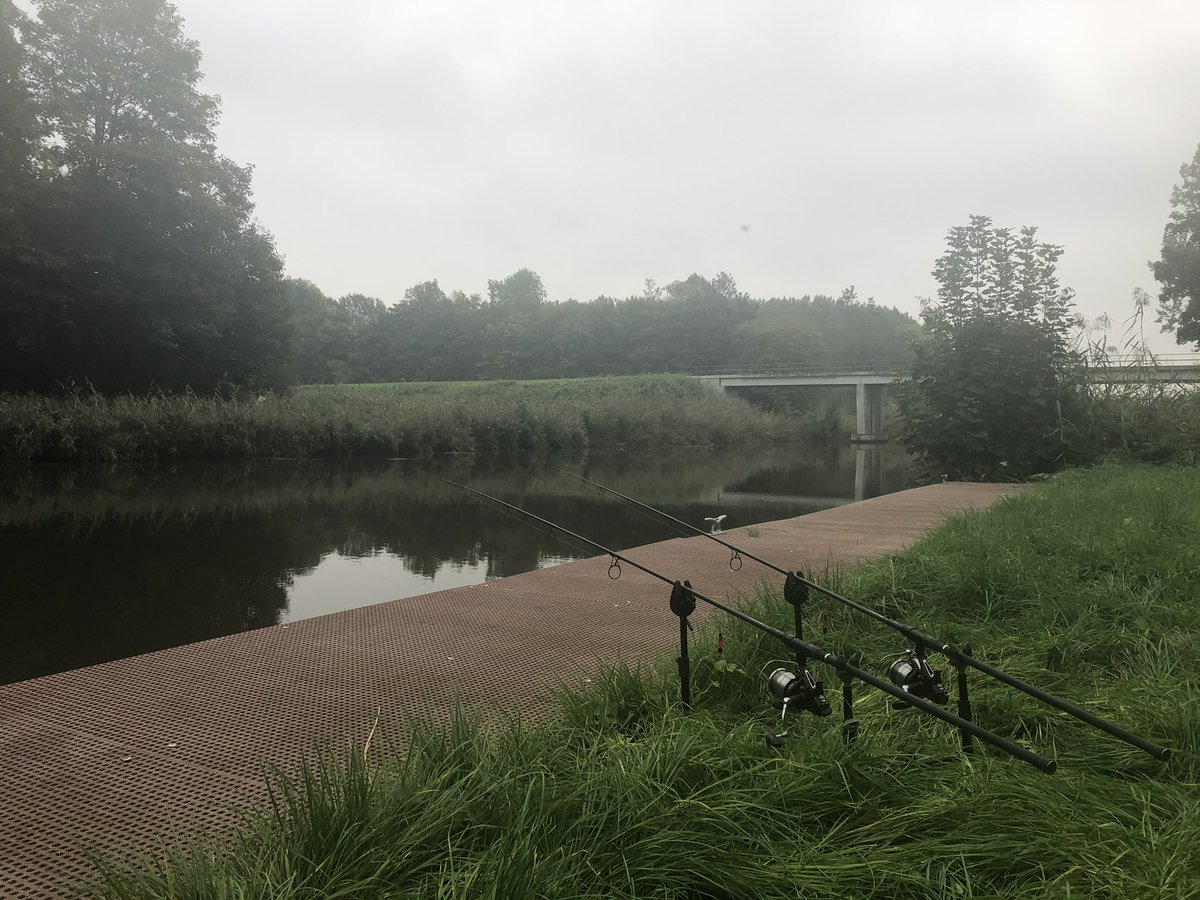The spot I wanted to go to was taken. But this spot on the canal is nice too. #carpfishing https://t