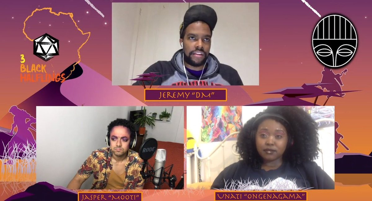 @TBHalflings Check out @TBHalflings ' wonderful Wagadu based, #dungeonsanddragons stream 🎲🧝🏾♂️🧝🏾♀️🧝🏾✨⚔️ It's live now! 🎙️