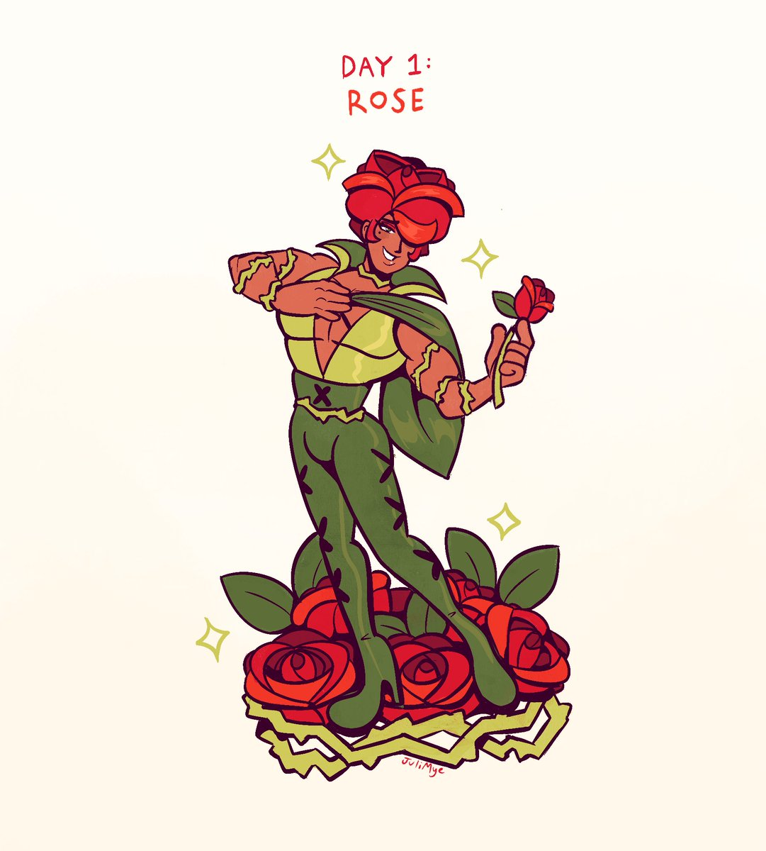 beginning of my #sketchtember /#bloomtober thread!!  Each day this month ill be drawing a different flower but as a cute guy 💐🌹🌸🌻  heres the first 4! Rose, Echeveria, Hibiscus, Garlic Flower #inktober2020