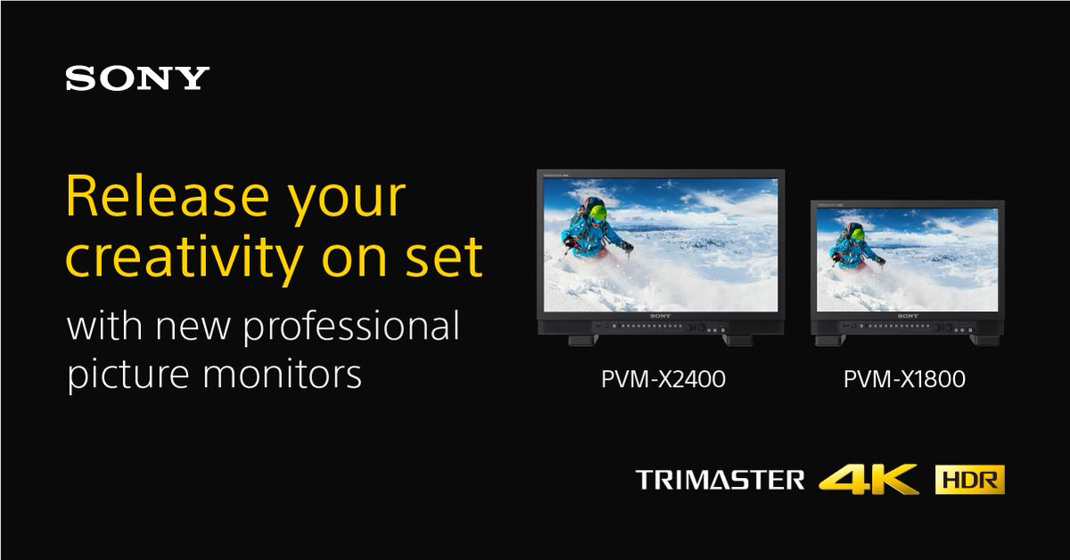 RT @sonyproeurope: We are excited to announce that we have started shipping our new PVM-X Monitors! Find out why consistency in image evalu…