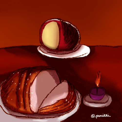 Oktobra thread:    Late to the party but here we are: Day 1 for #Oktobra: Philippine Holidays, Pasko. I made myself,, hungry.    #Oktobra2020 #ArtPH