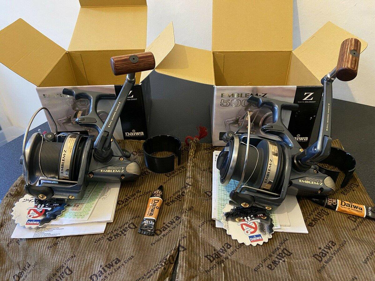 Ad - 2x Daiwa Emblem Z5000T Carp Fishing Reels On eBay here -->> https://t.co/y2XApZY9Uk  #car