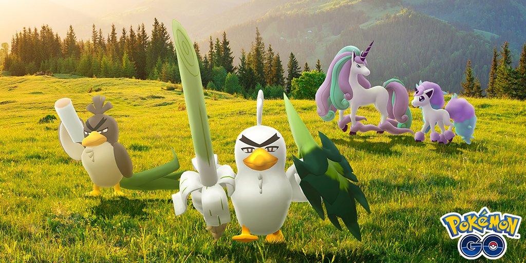 In celebration of the release of The Crown Tundra, Galarian Farfetch'd is now appearing in the wild in Pokémon GO! Galarian Farfetch'd can now evolve into Sirfetch'd!  #PokemonGO #PokemonSwordShieldEX