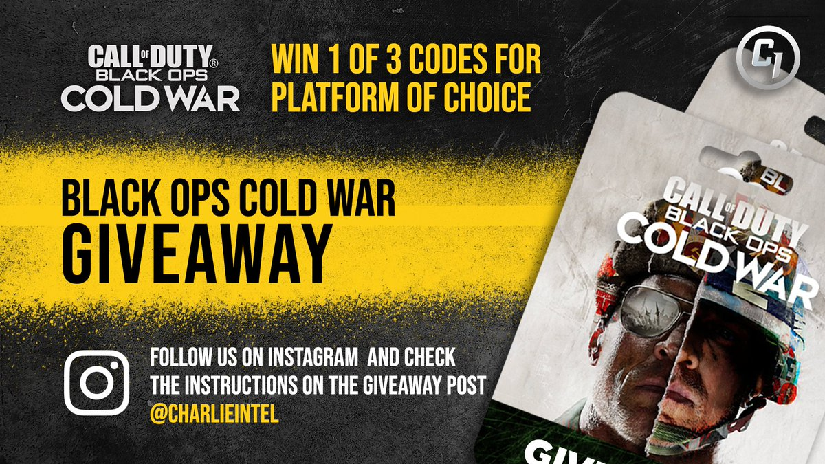 🔥Win one of three Black Ops Cold War game codes!🔥   How to enter: 1️⃣ RT and like this post 2️⃣ Follow our Instagram page    Winners announced Sunday, October 26th 2020