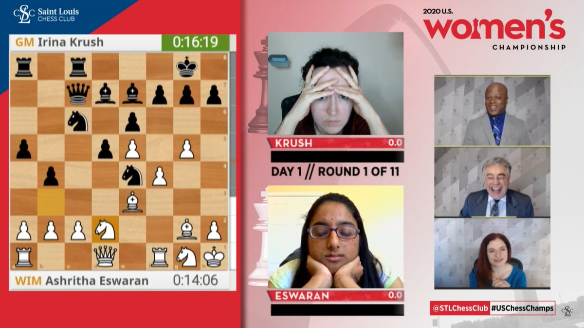 test Twitter Media - The 2020 @USChess Women's Championship, held online this year, has started. It features 12 of the strongest female chess players in the country, including Irina Krush, Anna Zatonskih, Carissa Yip, Annie Wang, Tatev Abrahamyan, and others.  https://t.co/OY5be1VpZg  #USChessChamps https://t.co/GnE5Fh524U