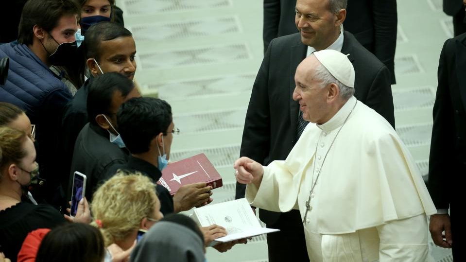 Pope Francis called for the legalization of same-sex civil unions for the first time as pope