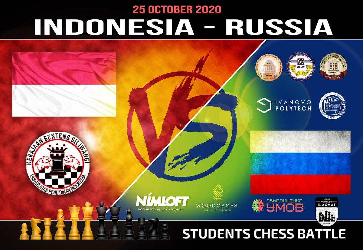 test Twitter Media - Students from Russian Ivanovo continue to live an active chess life during the pandemic. On Oct 25, their team comprised of players from five universities will play another virtual match against UNIVERSITAS PENDIDIKAN of Indonesia.  What about #chess at your #university? https://t.co/JLmutuA7PH