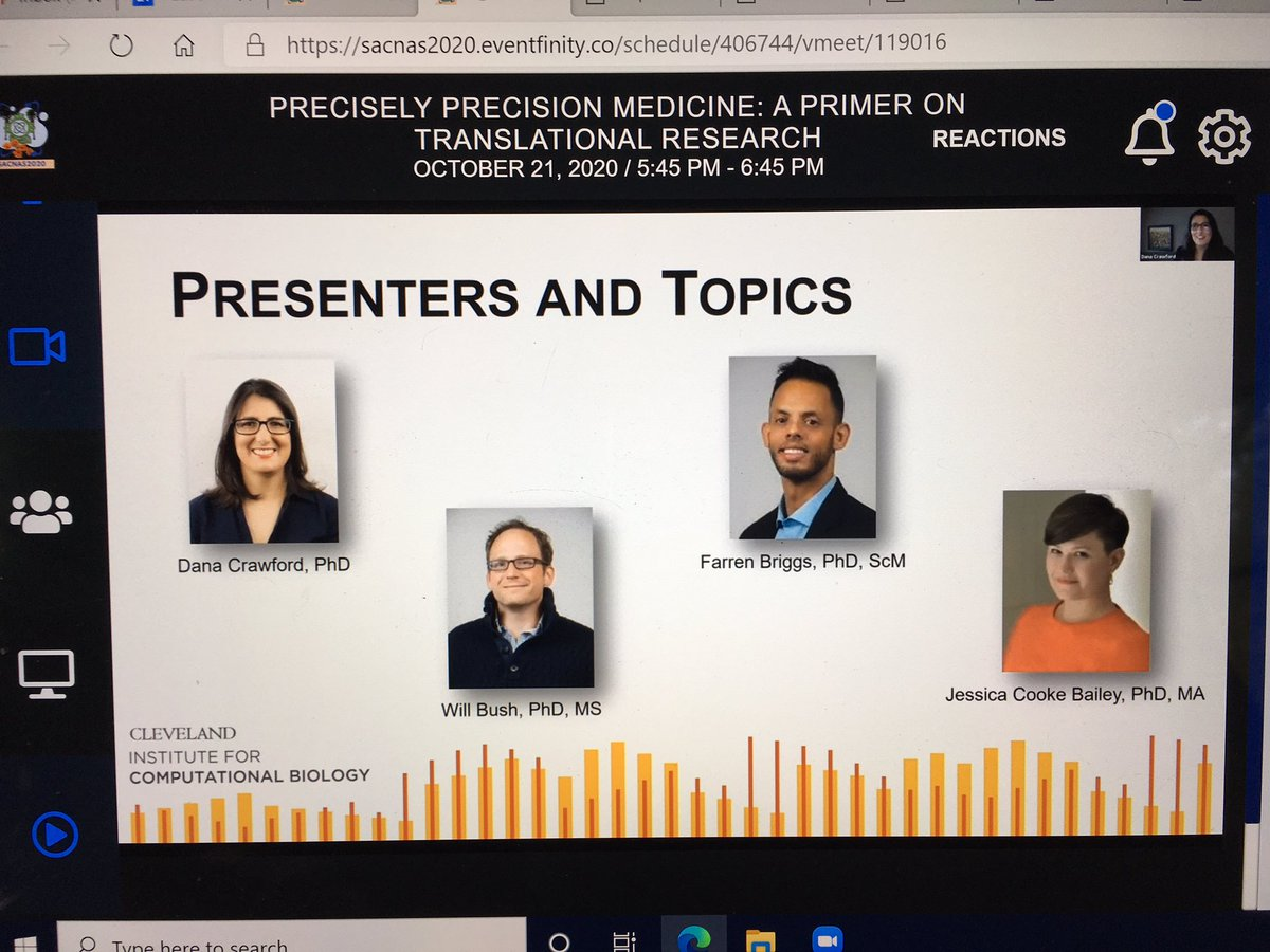 test Twitter Media - Don't miss our #SACNAS2020 Precisely Precision Medicine presentation today!  It's got electronic health records, genomics, return of research results, and bioethics!  What more could you want? @icompbio https://t.co/oDzj8BK2my