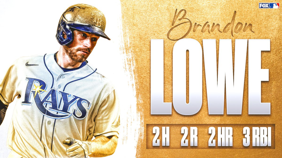 2 dingers for Brandon Lowe tonight 💪