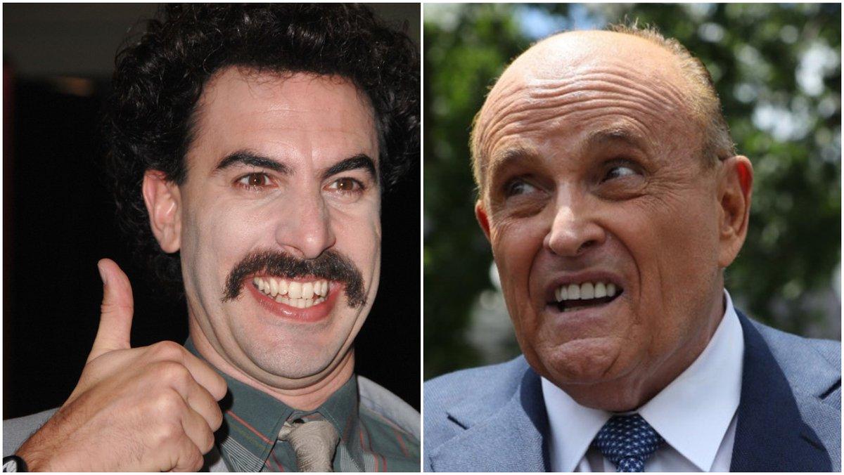Rudy Giuliani shown in questionable hotel bedroom scene in new #Borat film