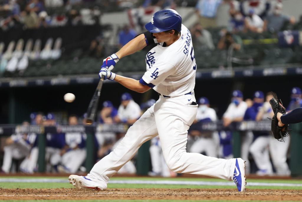 Corey Seager now has 7 HR this postseason.  That's the most all-time by a shortstop in a single-postseason.  The record for most HR hit by any player in a single-postseason is 8; done three times: Nelson Cruz (2011), Carlos Beltran (2004) and Barry Bonds (2002).
