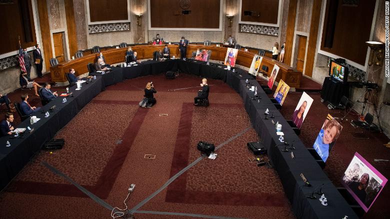 As Democrats boycott, the US Senate Judiciary Committee advances Supreme Court nominee Amy Coney Barrett