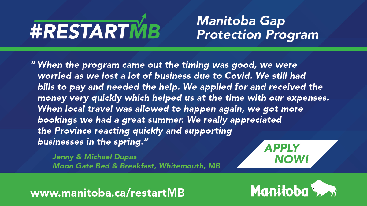 test Twitter Media - Our Manitoba Gap Protection Plan has helped nearly 10,000 businesses, with applications flowing in on a weekly basis, which includes support for hundreds of restaurants, food services and entertainment facilities. https://t.co/MDFshO0SLF