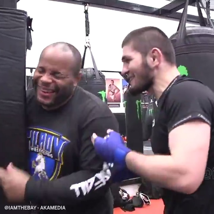 One of MMA's greatest friendships 😂  @dc_mma will be on commentary during @TeamKhabib's fight for the first time at #UFC254 (via @i_AmTheBay, @bokamotoESPN, @ufc)