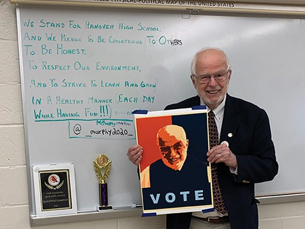 test Twitter Media - With a strong background in civics and keen insight into the minds of younger voters, longtime social studies teacher William Murphy '60, P'85 decided to take on Donald Trump for the presidency.   Read his story via Wes Magazine: https://t.co/tiPWnjNc9a  #WesVotes #WesEngage2020 https://t.co/IP9DVVxxOD