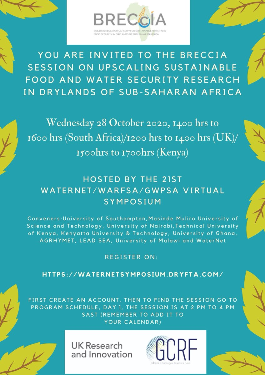 test Twitter Media - 1/2 ***UPCOMING EVENT***   Please join us and our friends at @SADC_WaterNet for the BRECcIA special session at this year's WaterNET symposium by registering using the link below:  https://t.co/WrJyWLom3j  @UKRI_News https://t.co/98IqUHDLS0