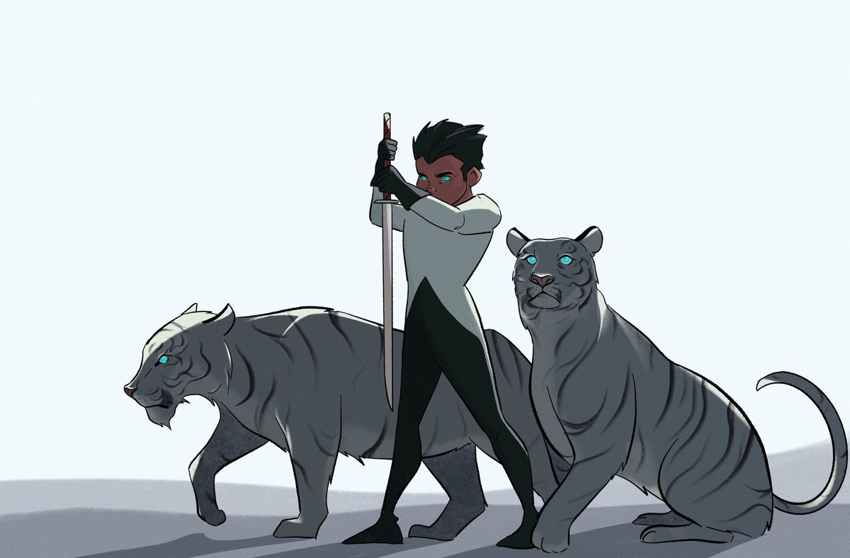 Today I present, the prodigal son + 虎tigers!!!   #dccomics #damianwayne