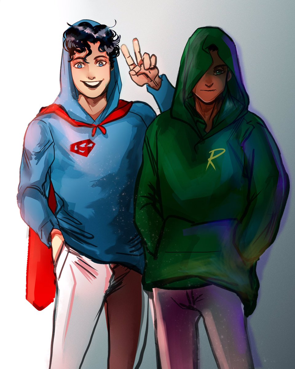 sometimes miss them #DamianWayne #supersons #jonathankent