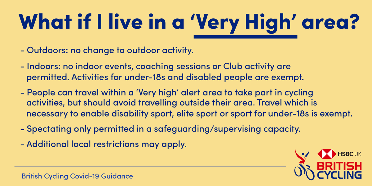 test Twitter Media - Thread: Following the publication of the new #Covid19 alert levels and guidance from @Sport_England, we have today updated our own guidance for cycling activities.   Full update 📄 https://t.co/YwqN6mZ6SN  Very high ⚠ https://t.co/KxhWc2XZGZ
