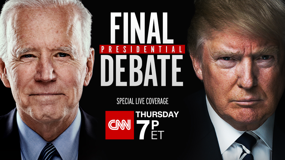 Joe Biden and Donald Trump meet face to face one last time. With less than 3 weeks before election day, it's time for the final presidential debate. Special live coverage starts Thursday night at 7 p.m. ET