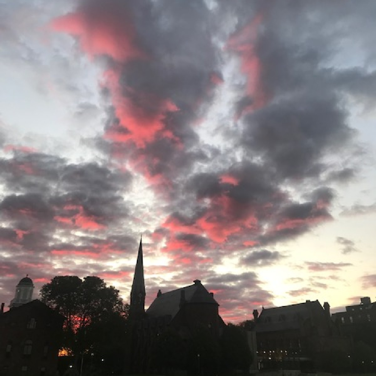 test Twitter Media - Beautiful clouds during sunrise over College Row. ☁️🌅  📸 captured earlier this month by Bill N. Thanks for sharing with us! https://t.co/eHGg09SMYU
